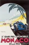 Chic Style French Monaco Grand Prix 1933 Metal Sign